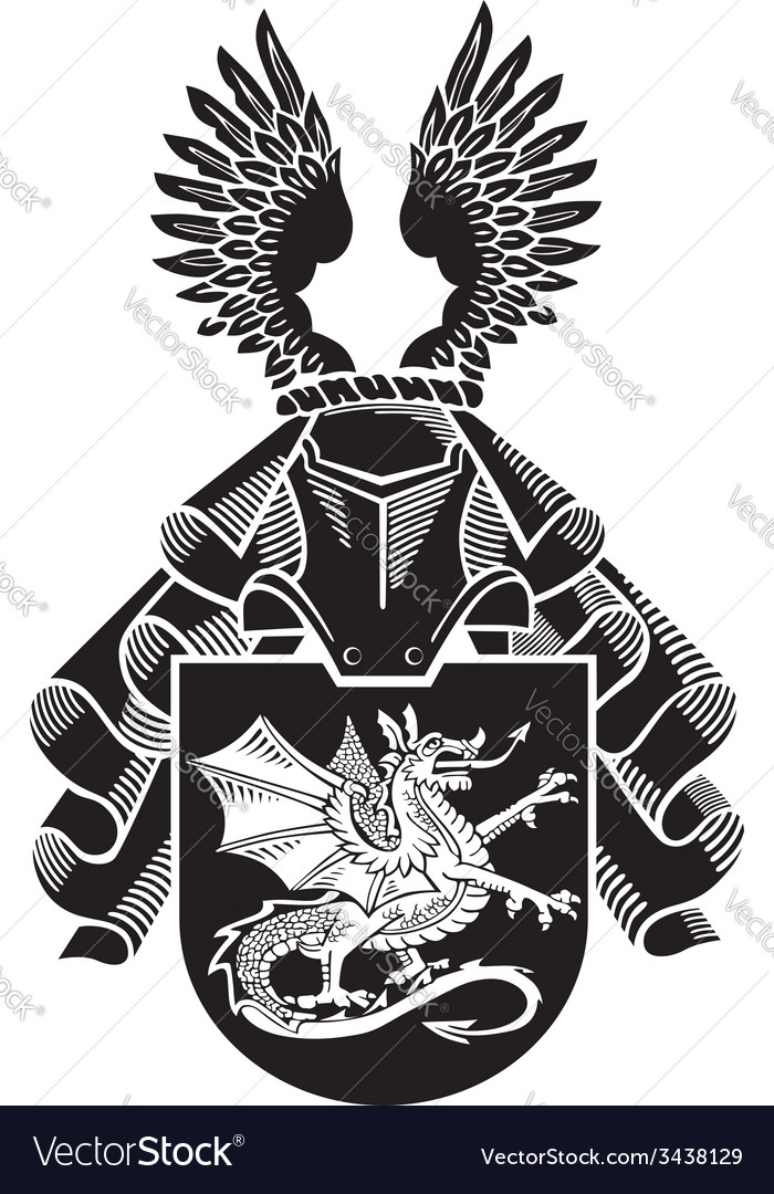 Heraldic silhouette no12 vector | Price: 1 Credit (USD $1)
