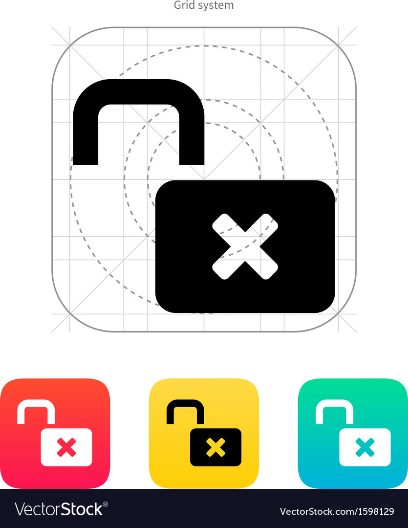 Lock is open icon vector | Price: 1 Credit (USD $1)