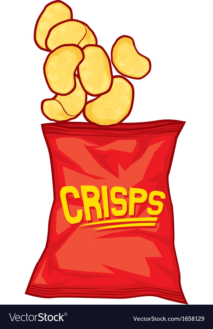 Potato chips bag vector | Price: 1 Credit (USD $1)