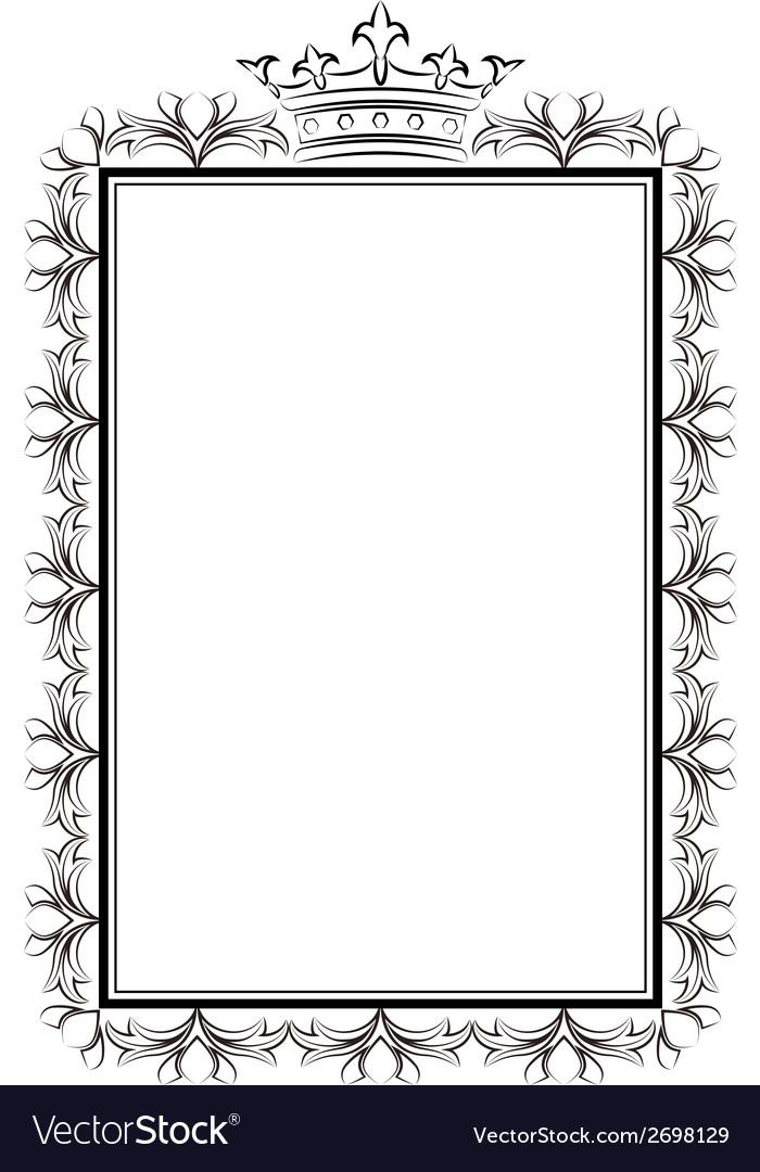 Royal frame vector | Price: 1 Credit (USD $1)