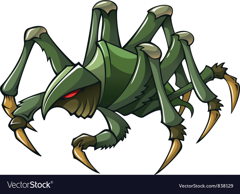 Scary spider vector | Price: 1 Credit (USD $1)
