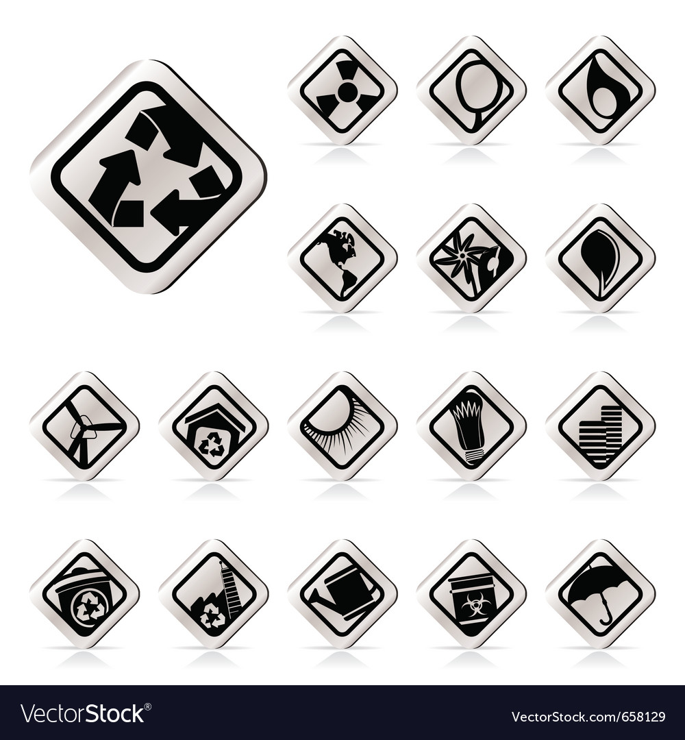 Simple ecology icons - set for web applications vector | Price: 1 Credit (USD $1)