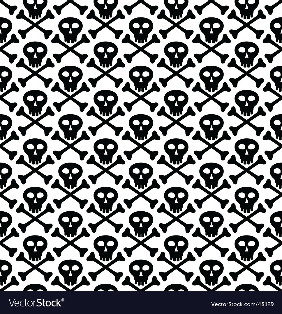 Skull black pattern vector | Price: 1 Credit (USD $1)