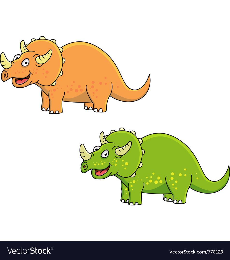 Triceratops cartoon vector | Price: 1 Credit (USD $1)