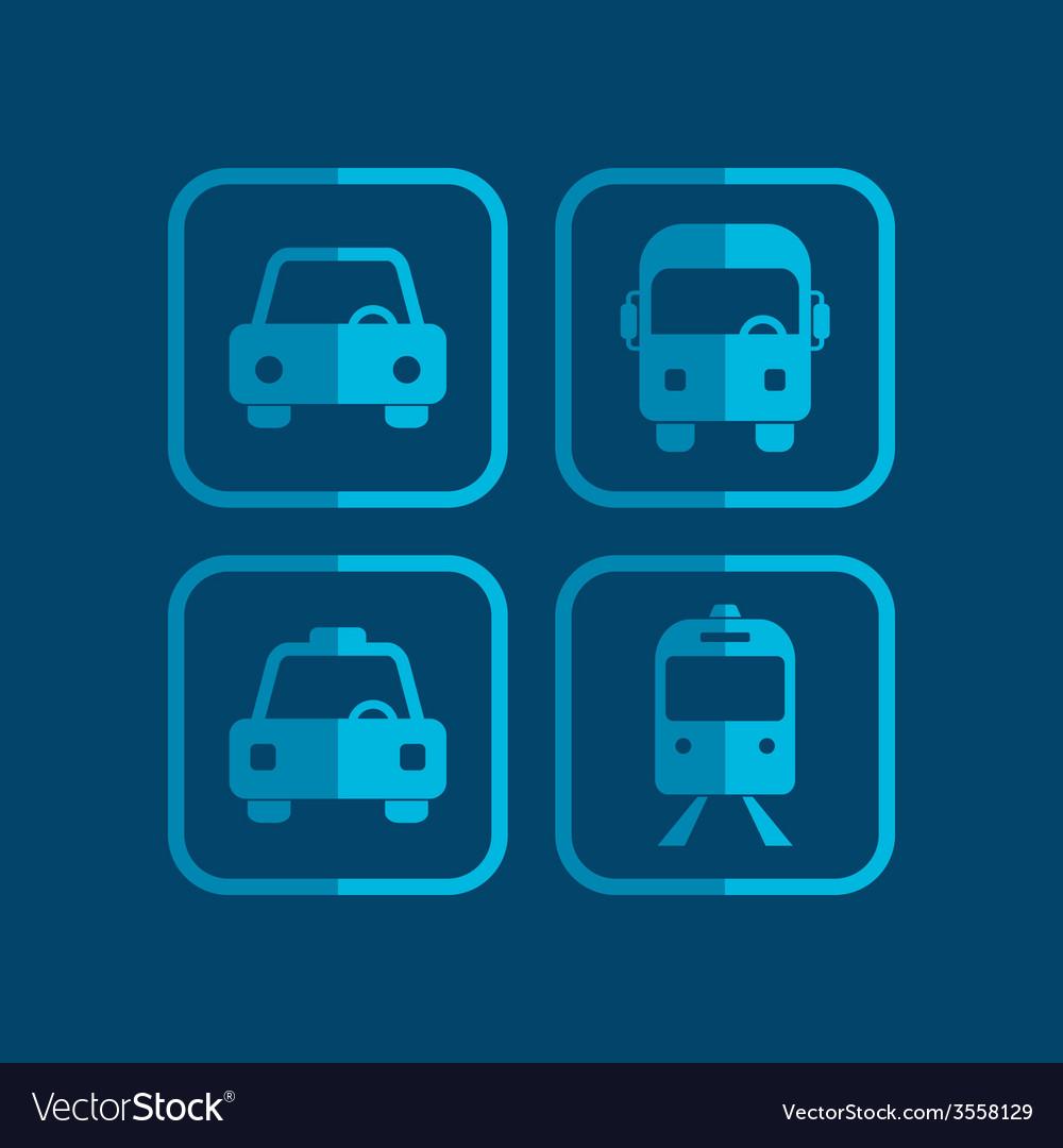 Vehicle icon vector | Price: 1 Credit (USD $1)