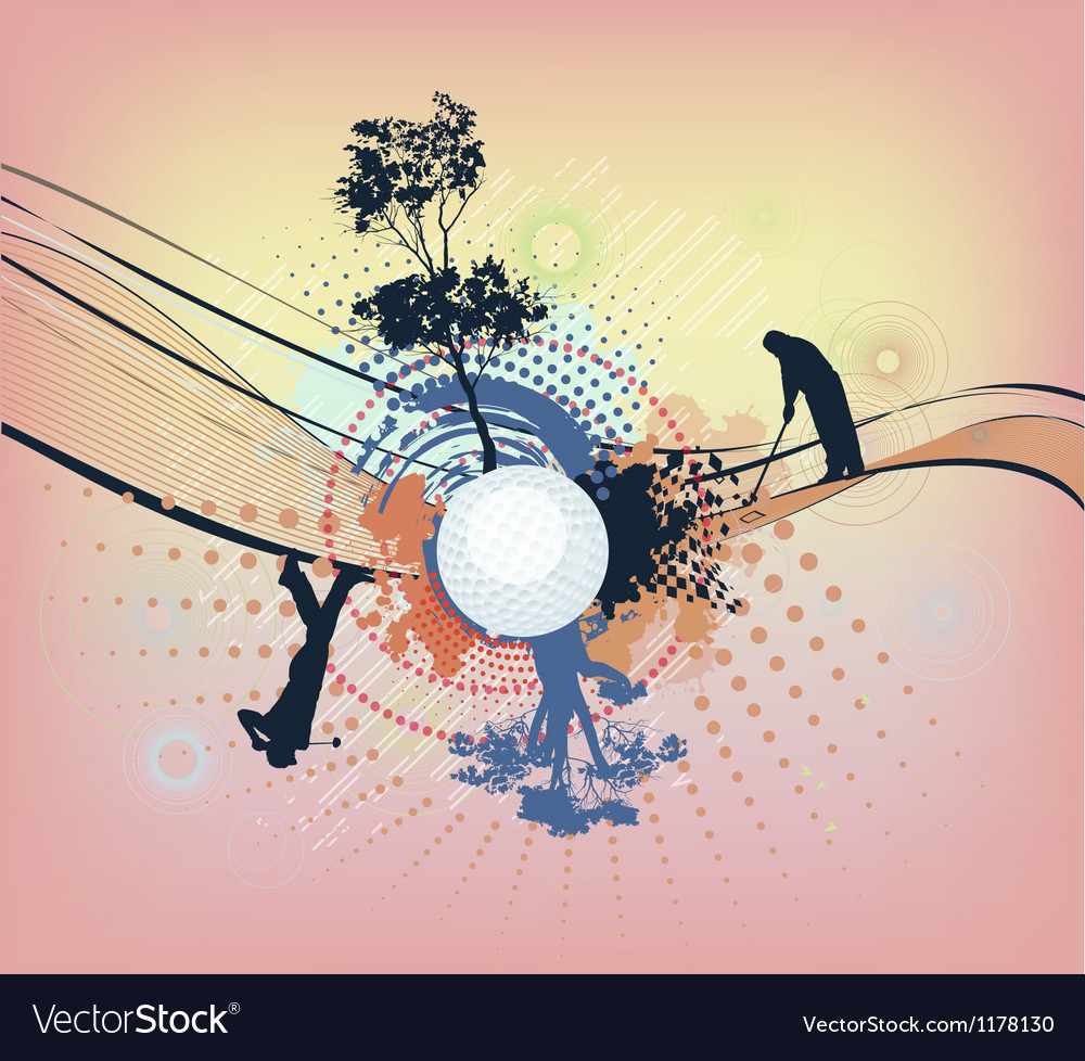Abstract colorful golf background vector | Price: 1 Credit (USD $1)