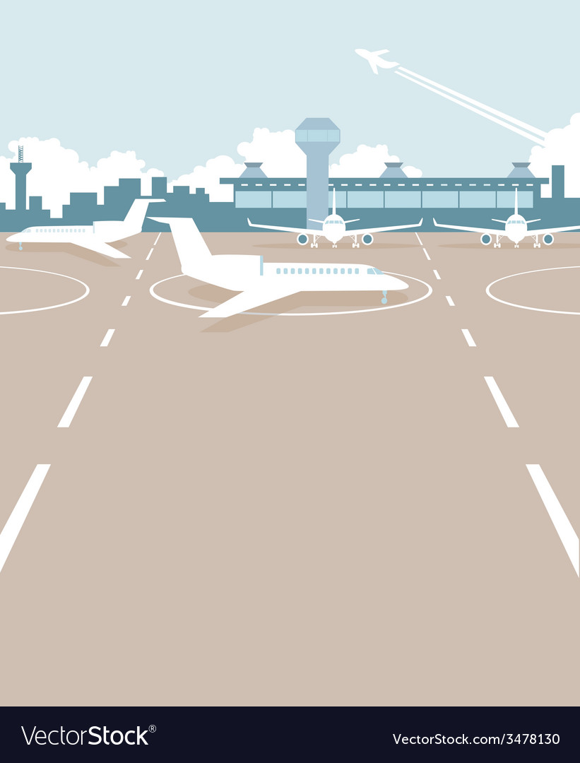 Airport field vector | Price: 1 Credit (USD $1)