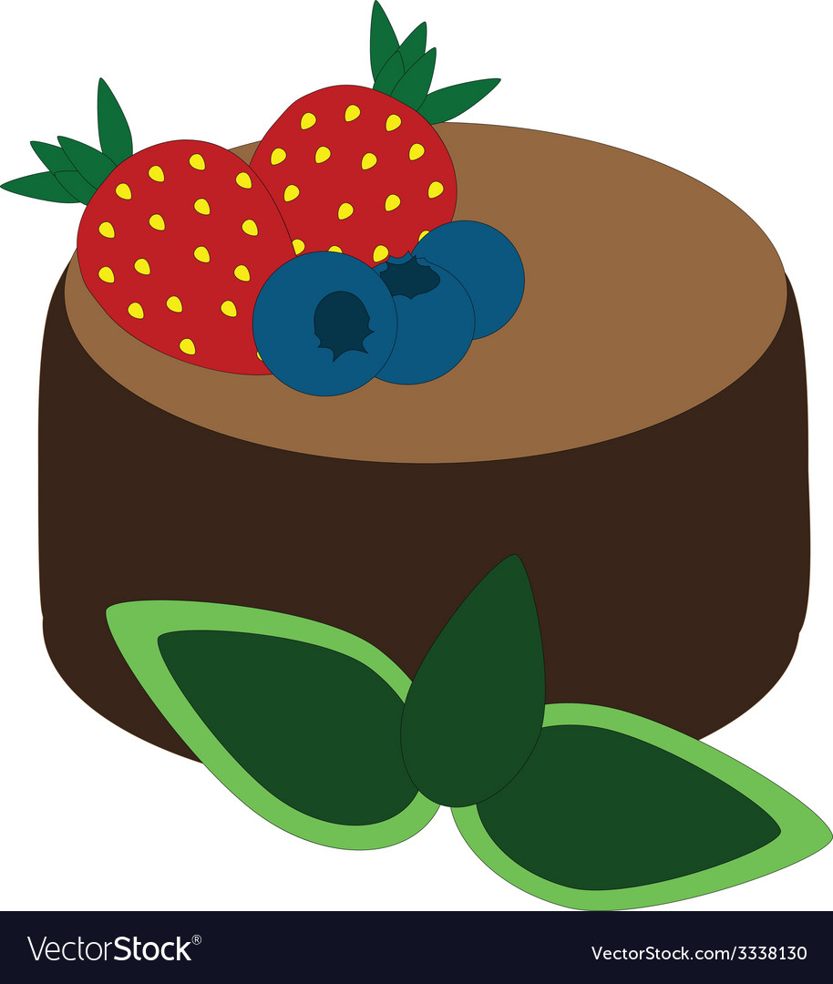 Chocolate dessert vector | Price: 1 Credit (USD $1)