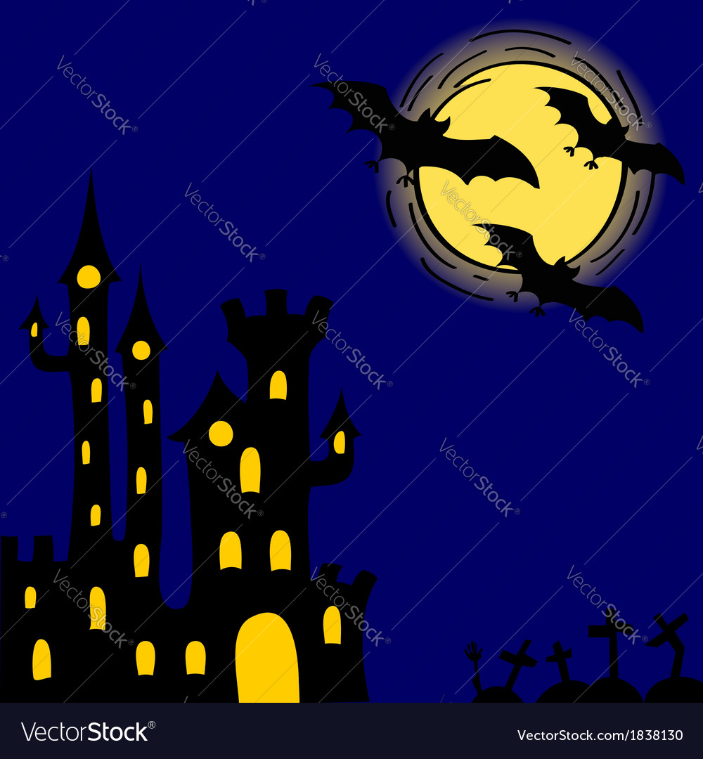 Creepy castle vector | Price: 1 Credit (USD $1)