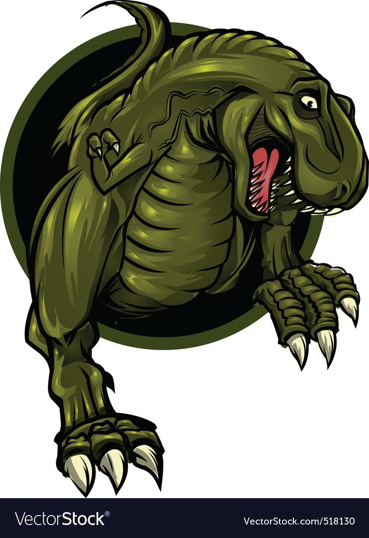 Dinosaur mascot vector | Price: 3 Credit (USD $3)