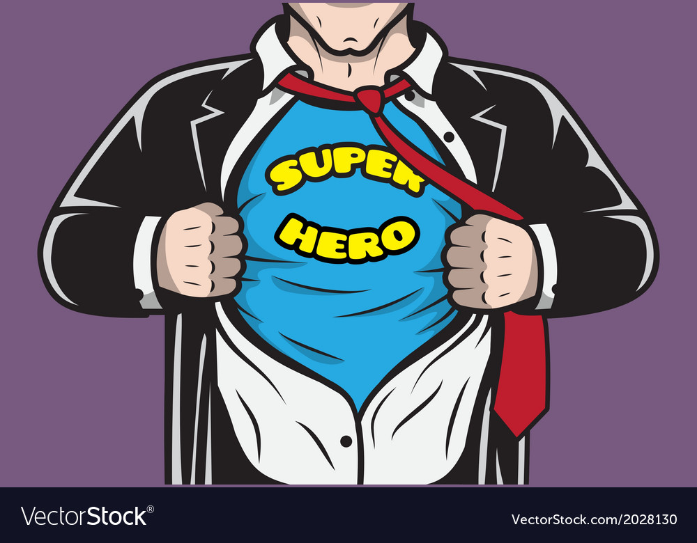 Disguised hidden comic superhero businessman vector | Price: 1 Credit (USD $1)