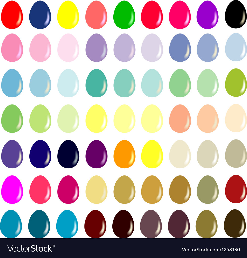 Easter eggs - the collection for designers vector | Price: 1 Credit (USD $1)