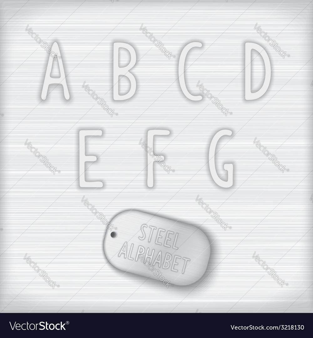 Metallic latin alphabet vector | Price: 1 Credit (USD $1)