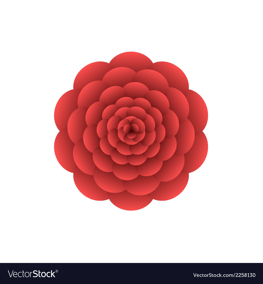 Red flower vector | Price: 1 Credit (USD $1)