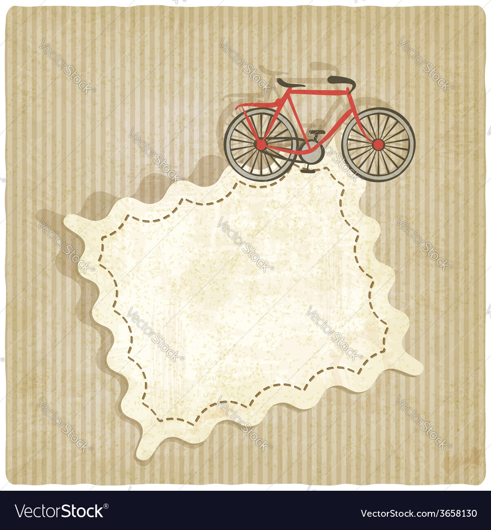 Retro background with bicycle vector | Price: 1 Credit (USD $1)