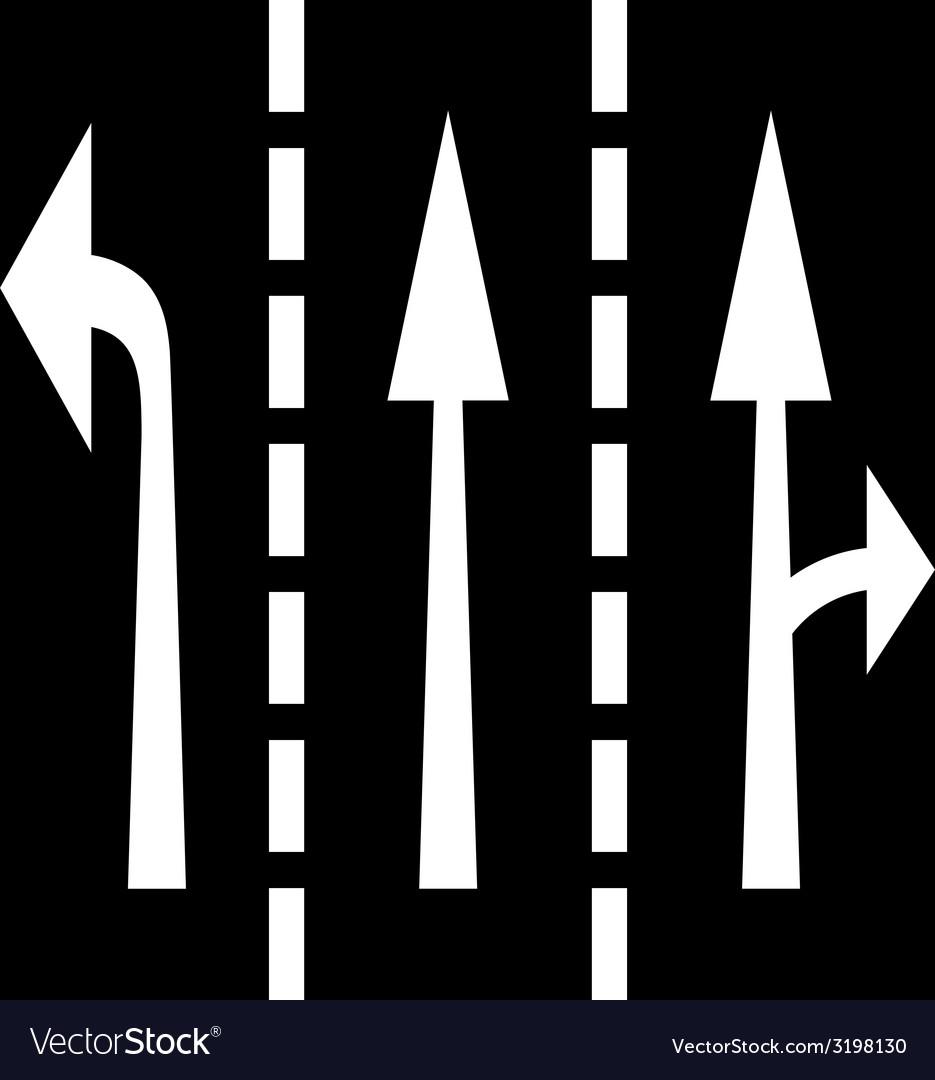 Road arrows vector | Price: 1 Credit (USD $1)