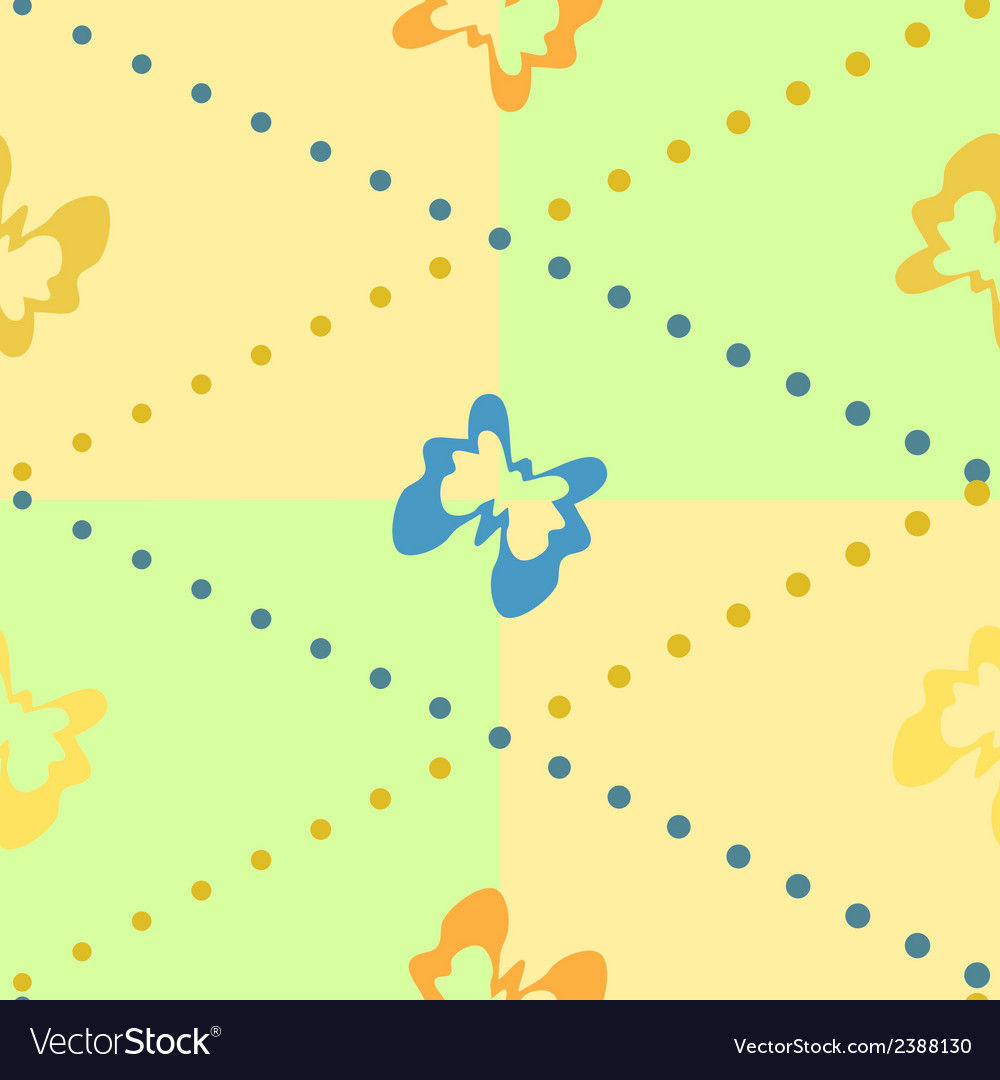 Seamless background with butterflies vector | Price: 1 Credit (USD $1)