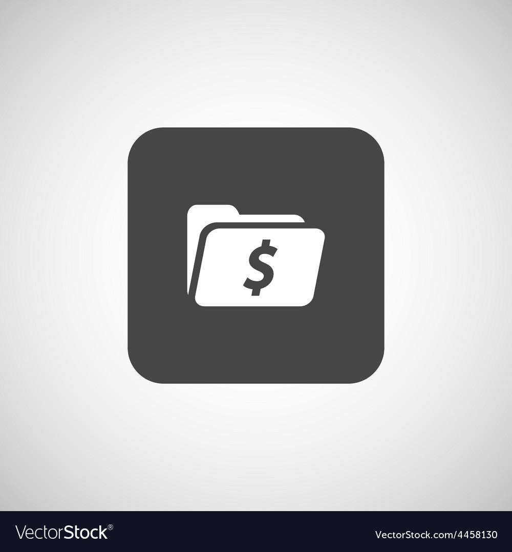 Shopping dollar folder file icon internet symbol vector | Price: 1 Credit (USD $1)