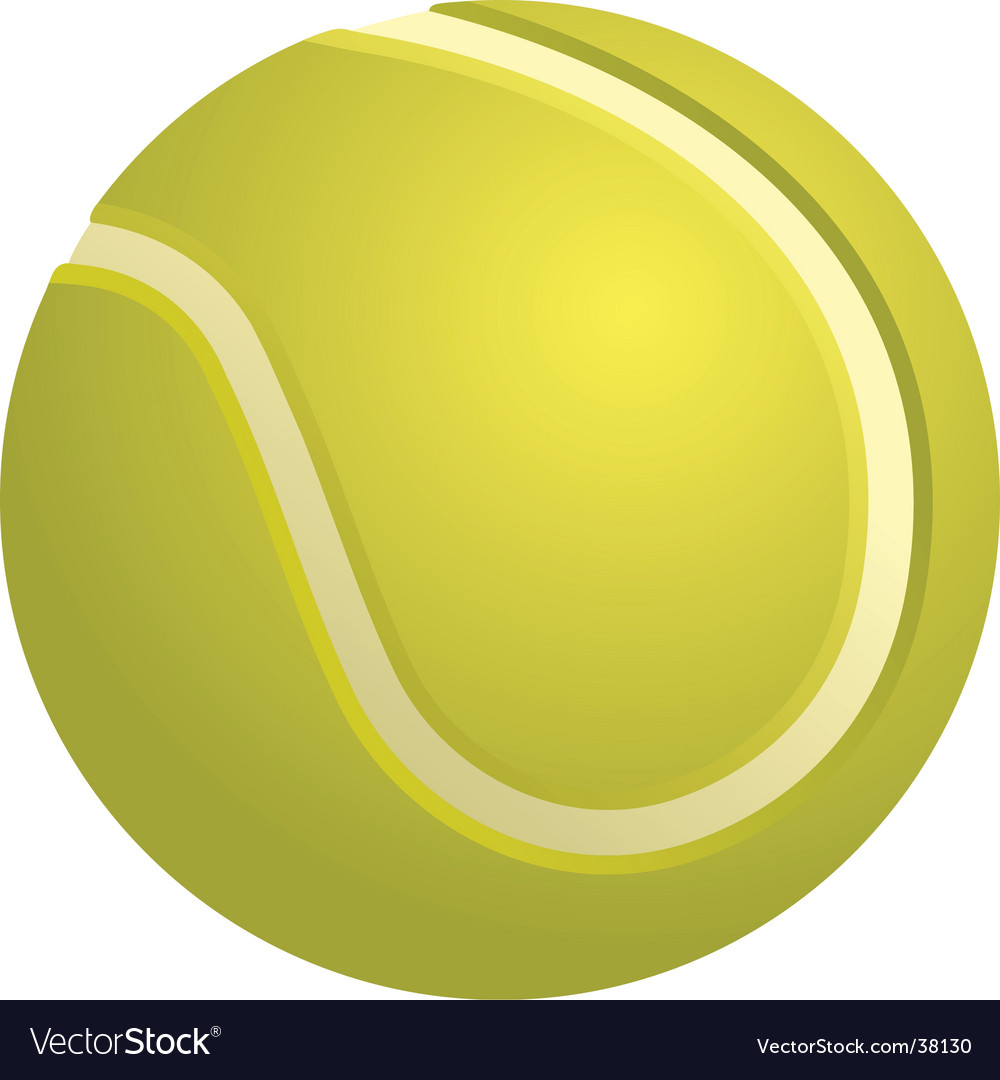 Tennis ball isolated vector | Price: 1 Credit (USD $1)