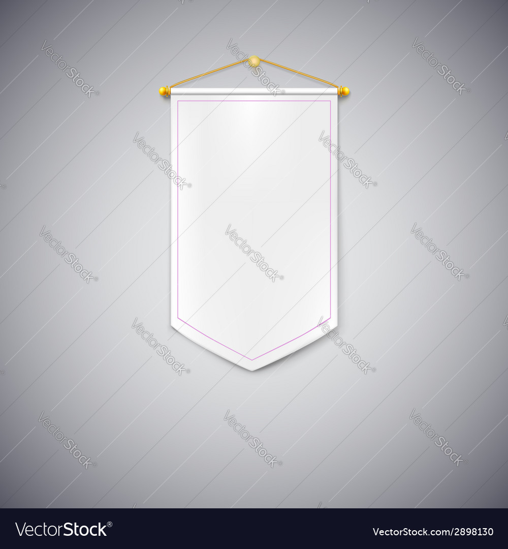 White pennant on white background vector | Price: 1 Credit (USD $1)