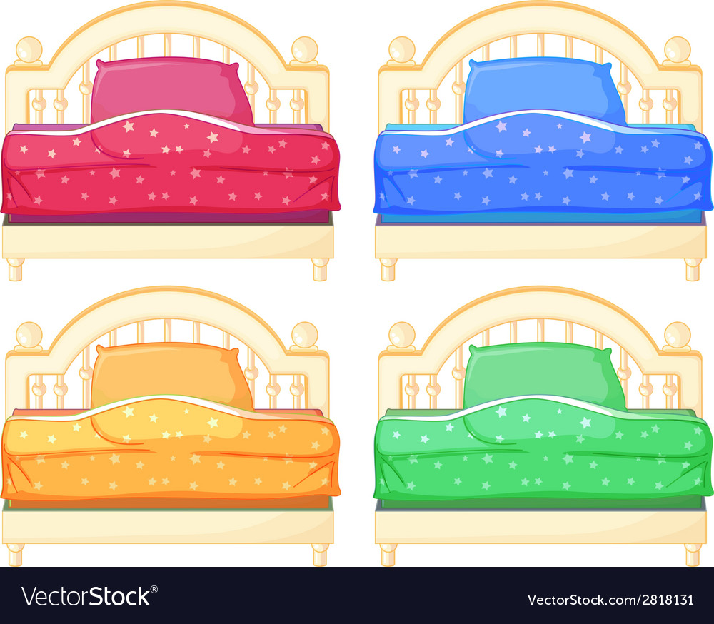 Bed set vector