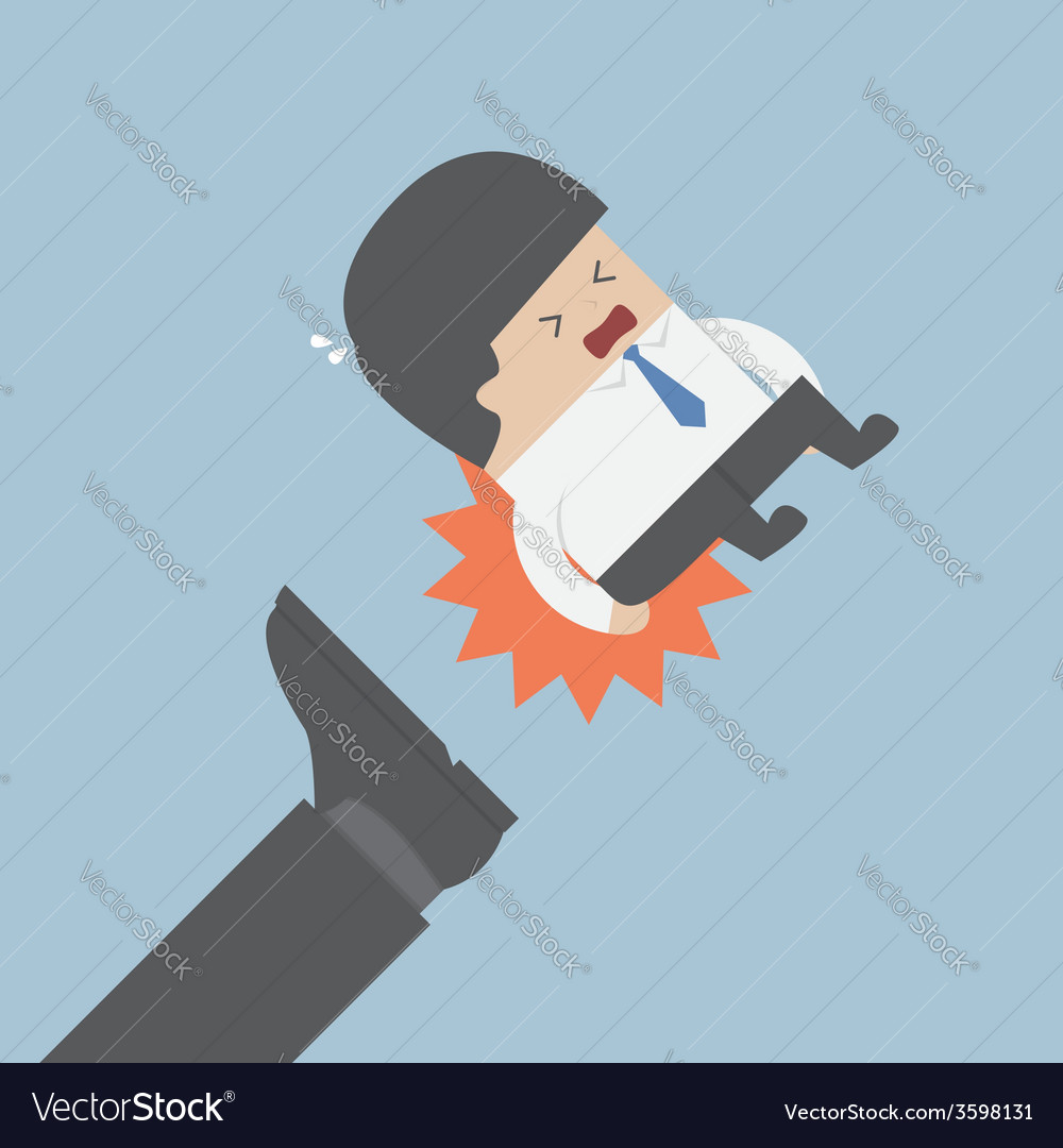 Businessman being kicked out vector | Price: 1 Credit (USD $1)