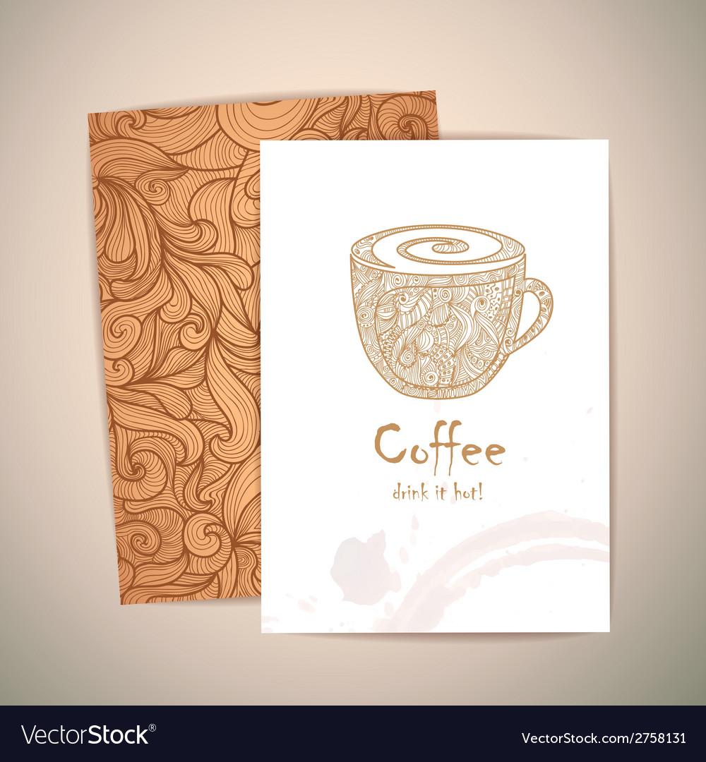 Coffee concept design corporate identity vector | Price: 1 Credit (USD $1)