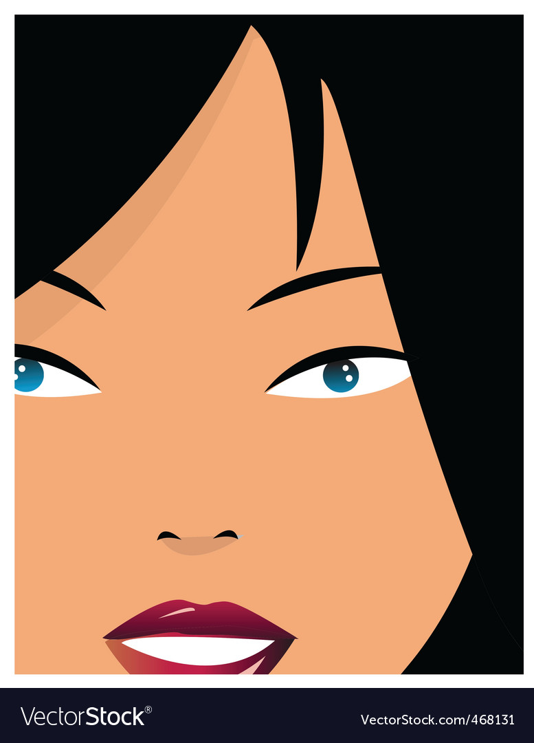 Girl closeup vector | Price: 1 Credit (USD $1)
