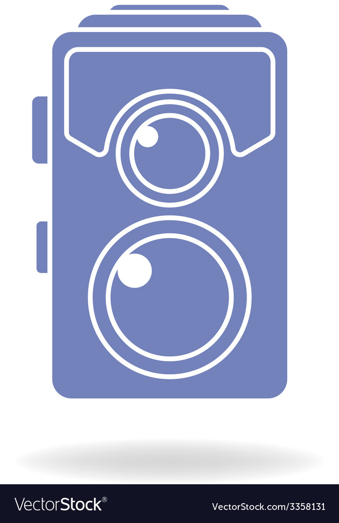 Hipster photo or camera icon retro old photo vector | Price: 1 Credit (USD $1)