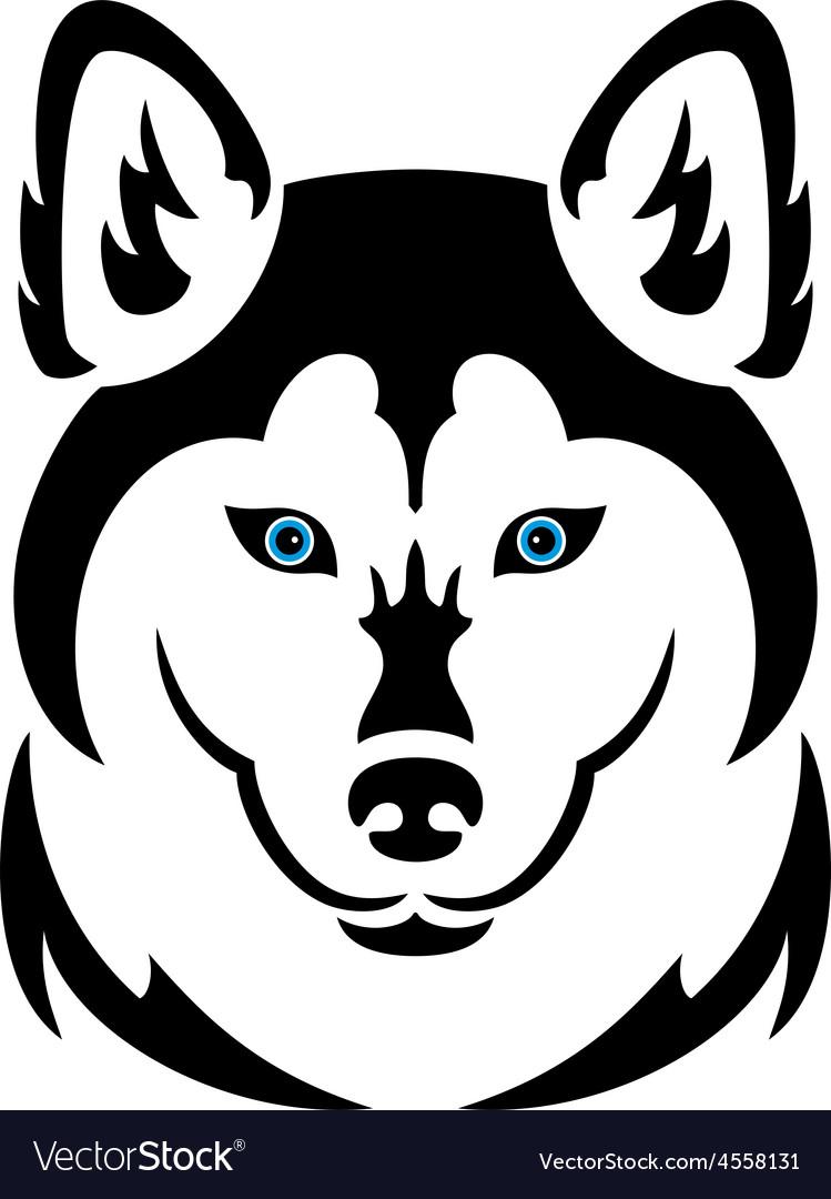 Husky dog tattoo vector | Price: 1 Credit (USD $1)