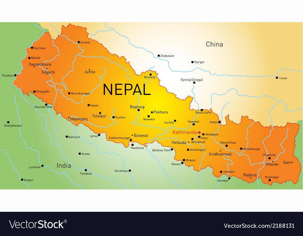 Nepal country vector | Price: 1 Credit (USD $1)
