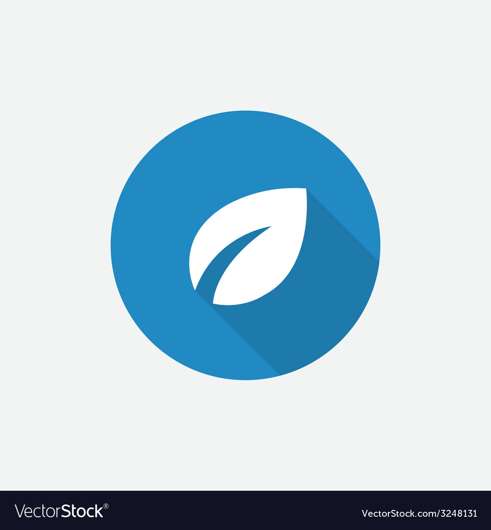 Plant flat blue simple icon with long shadow vector | Price: 1 Credit (USD $1)