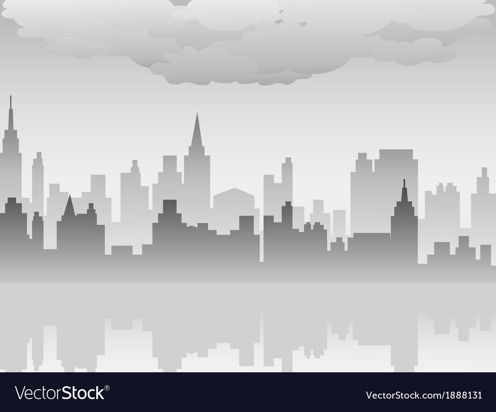 Pollution city vector | Price: 1 Credit (USD $1)