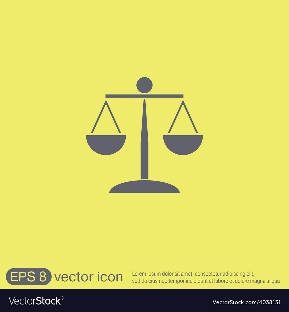 Scales of justice icon vector | Price: 1 Credit (USD $1)