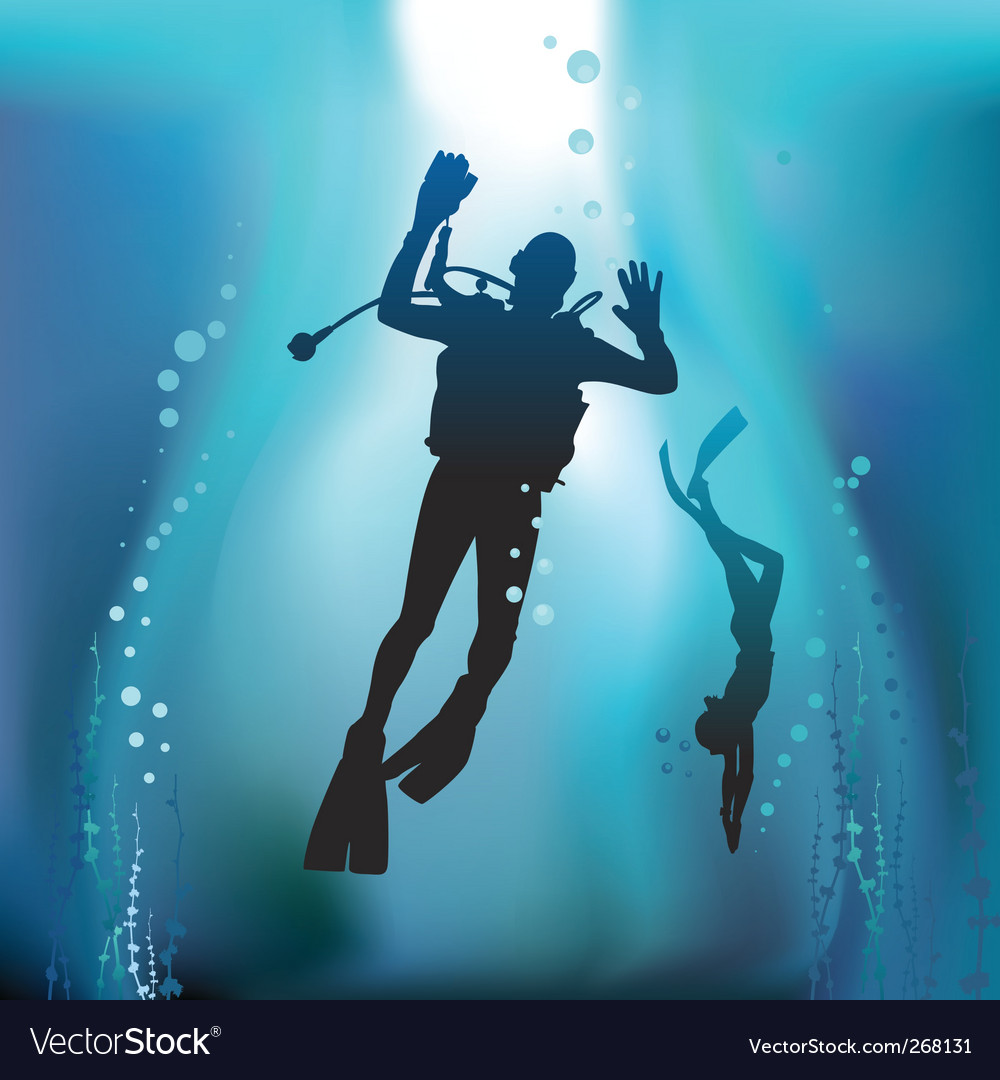 Scuba diving vector | Price: 1 Credit (USD $1)