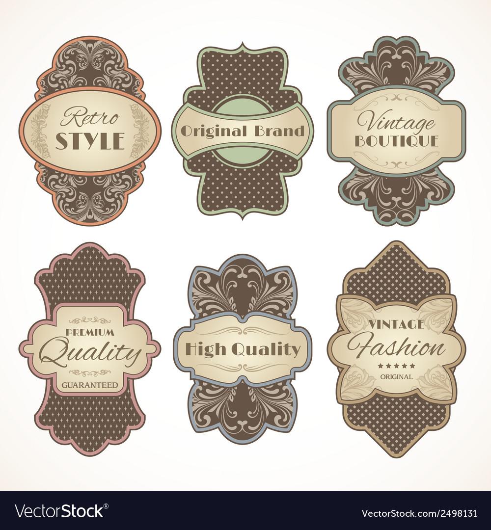 Vintage labels set vector   Price: 1 Credit (USD $1)