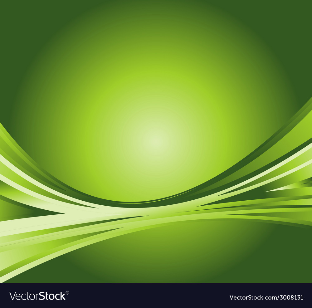Wave abstract background on the green vector
