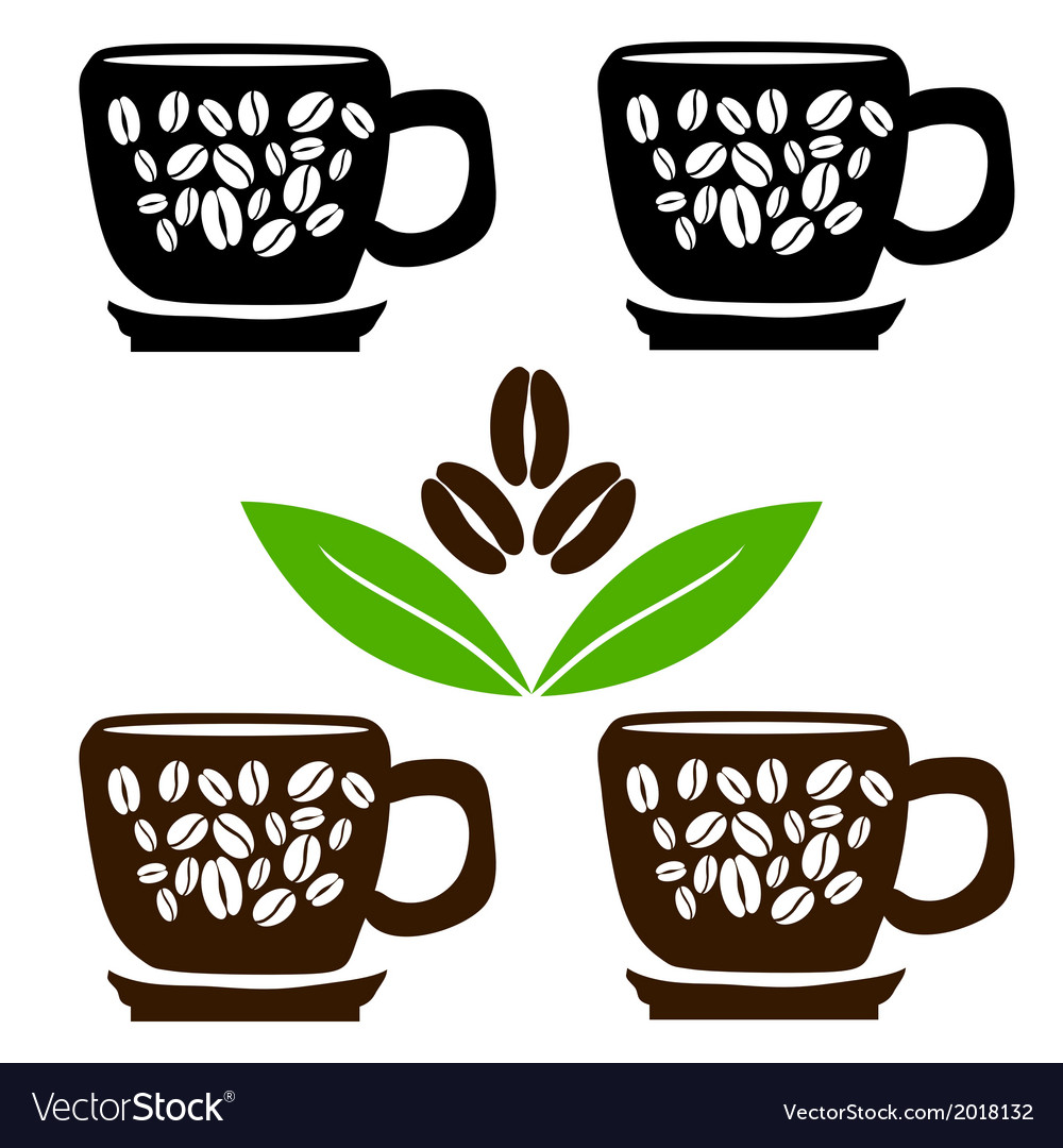 4 cup of coffee vector | Price: 1 Credit (USD $1)