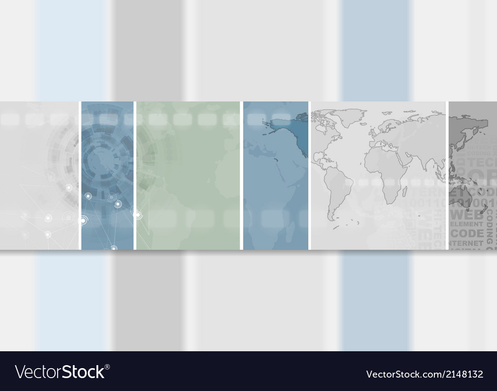 Abstract hi-tech banner design vector | Price: 1 Credit (USD $1)