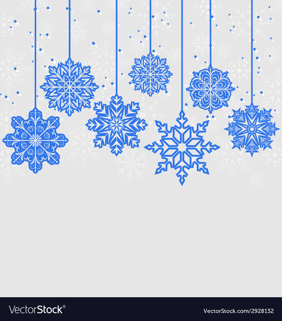 Christmas card with variation snowflakes vector | Price: 1 Credit (USD $1)