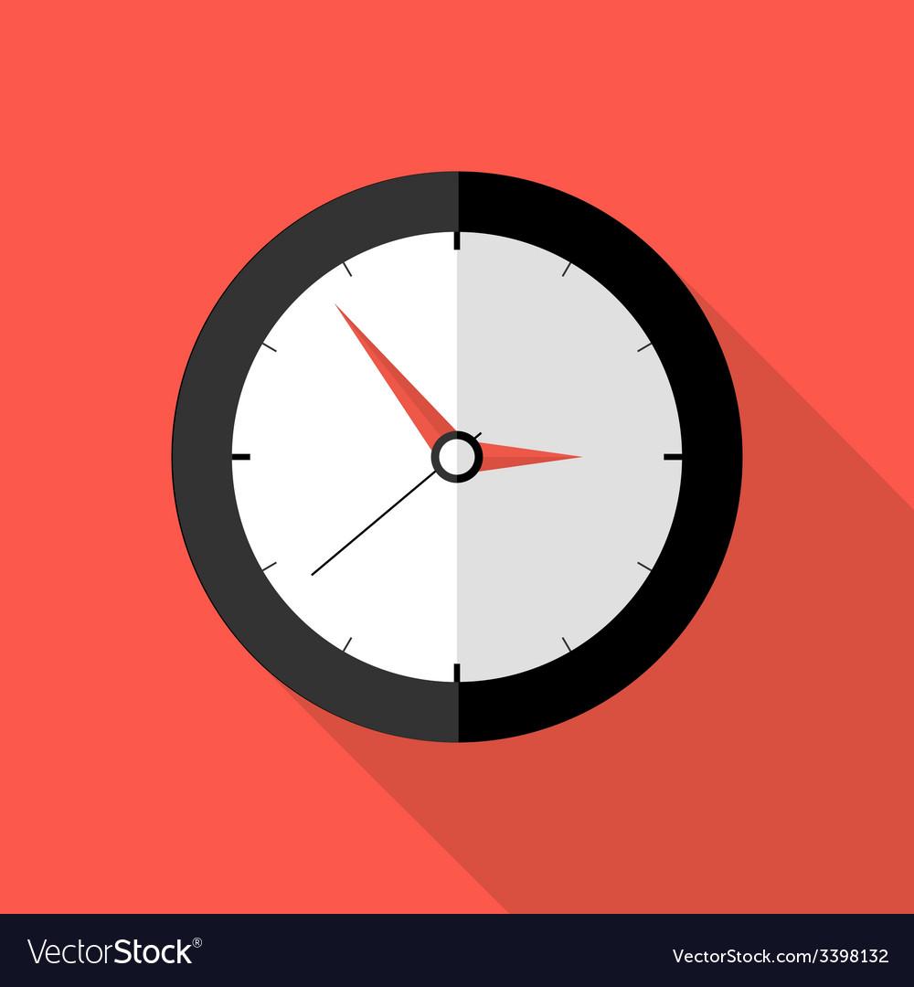Clock deadline flat icon vector | Price: 1 Credit (USD $1)