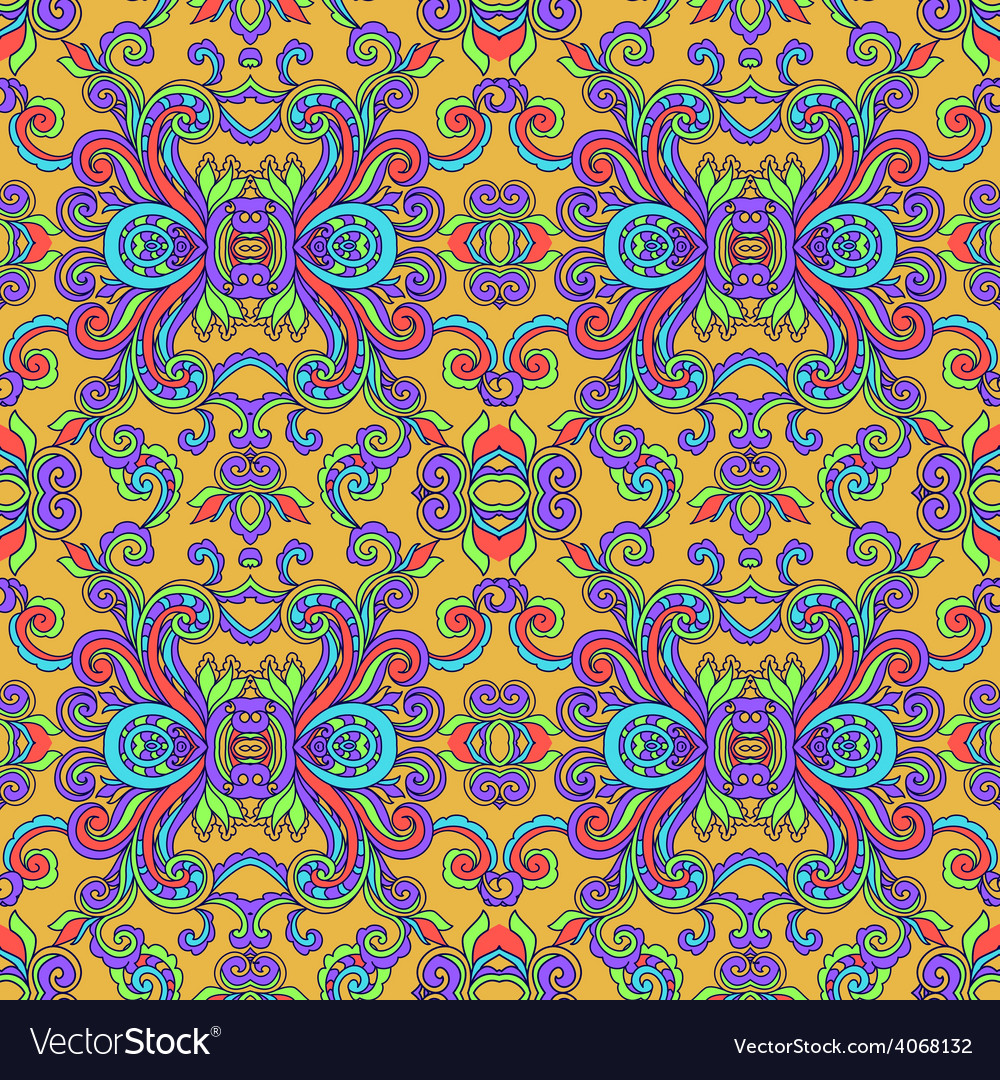 Decorative abstract floral pattern vector | Price: 1 Credit (USD $1)