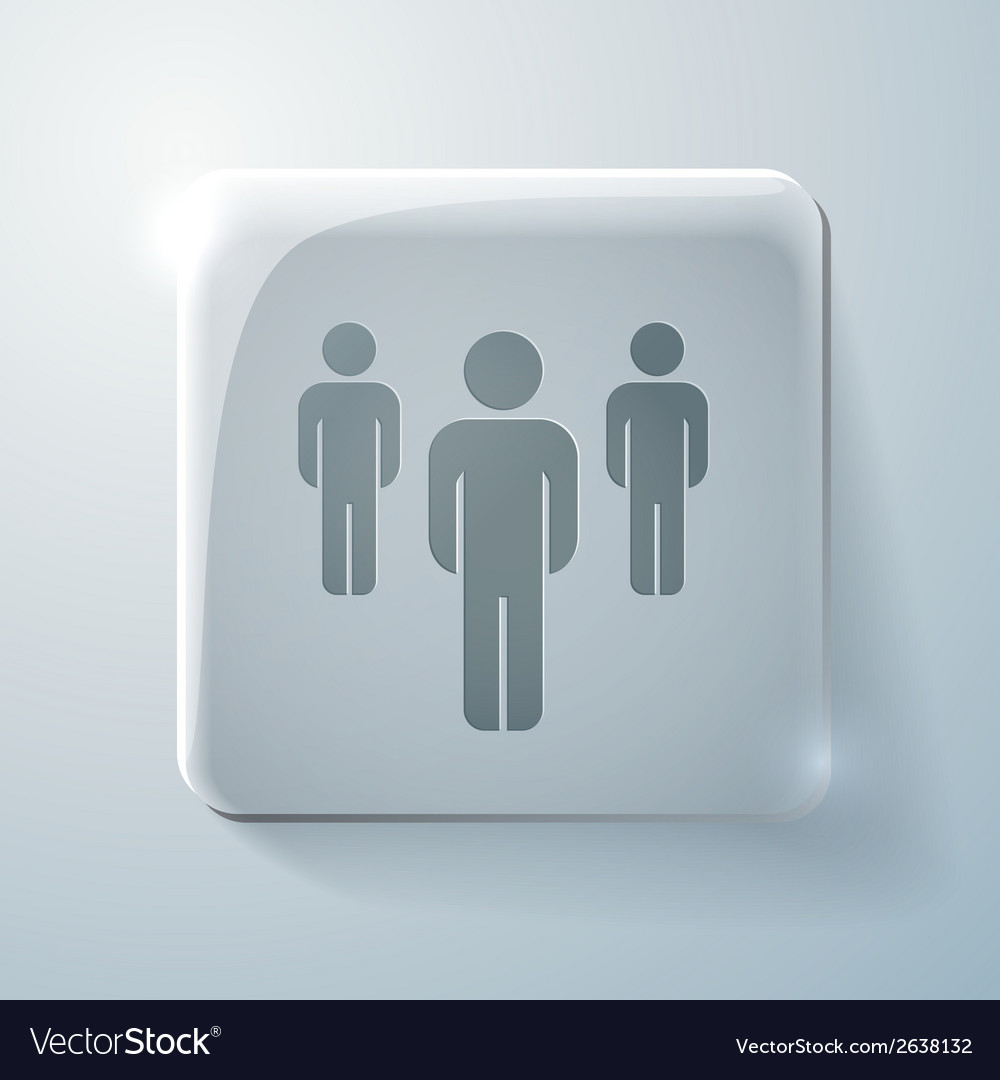Glass square icon silhouette of a men vector | Price: 1 Credit (USD $1)