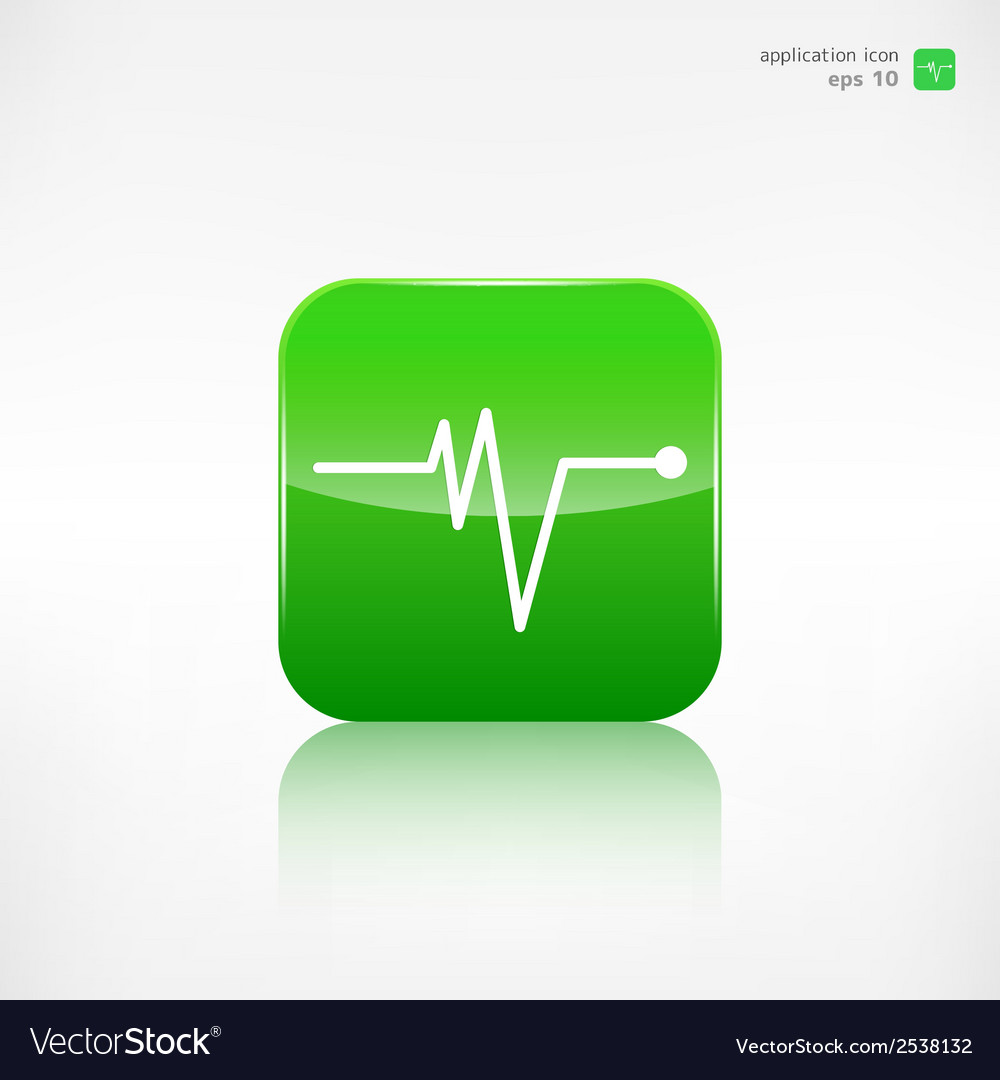 Heart beat cardiogramm pulse icon vector | Price: 1 Credit (USD $1)