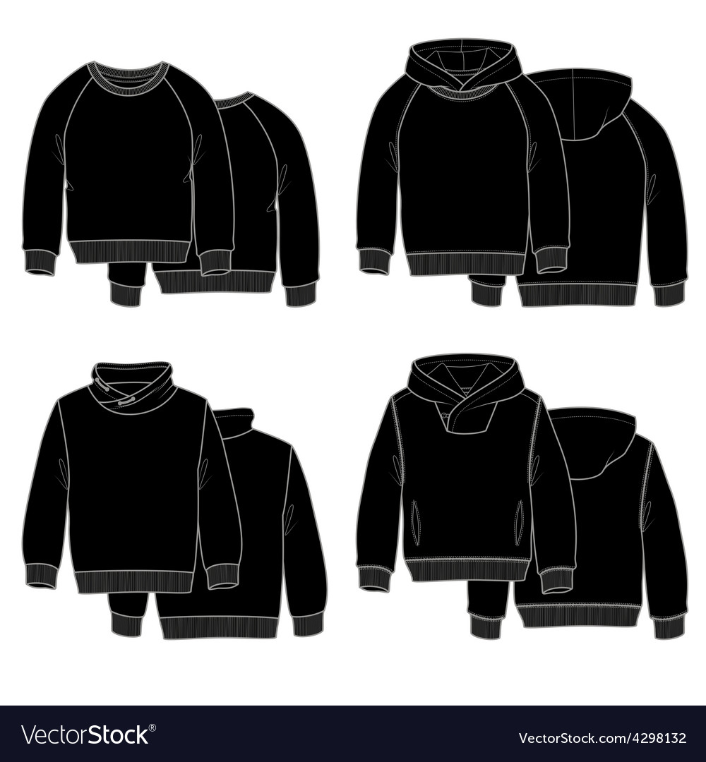 Hoodies black vector | Price: 1 Credit (USD $1)