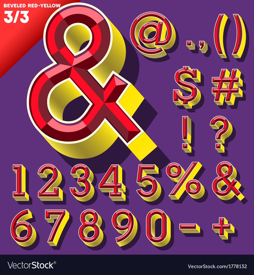 Old school beveled alphabet vector | Price: 1 Credit (USD $1)