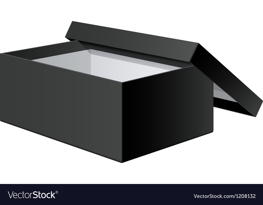 Realistic black blank package box opened with the vector | Price: 1 Credit (USD $1)