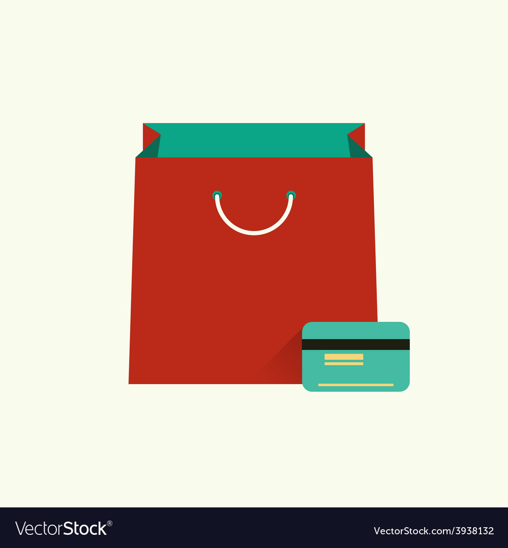 Red bag for shopping and vector | Price: 1 Credit (USD $1)