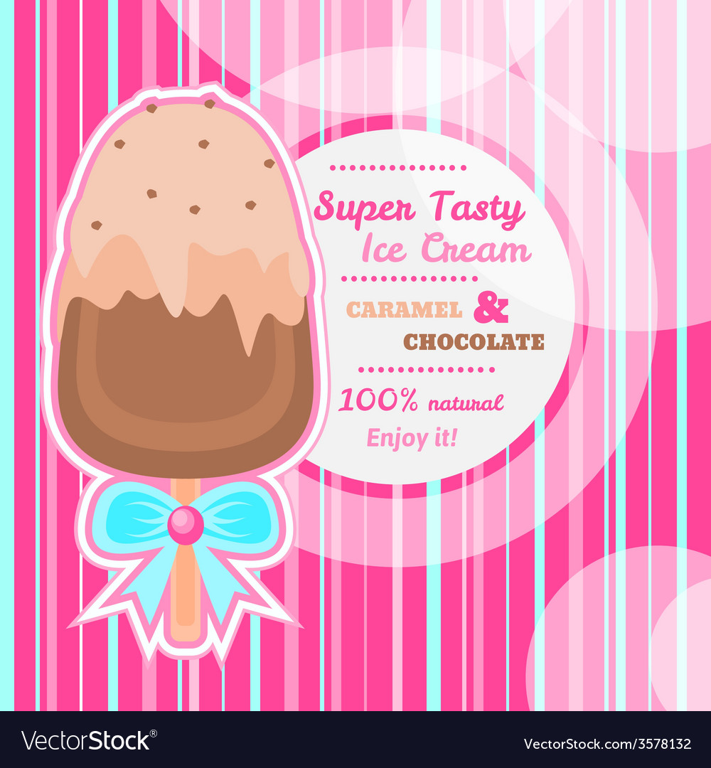 Tasty ice cream background with text space vector | Price: 1 Credit (USD $1)
