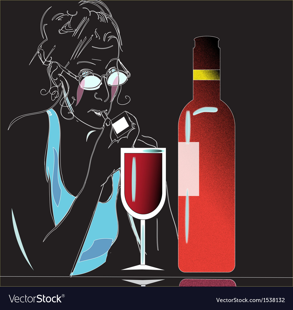 Wine and glass vector | Price: 1 Credit (USD $1)